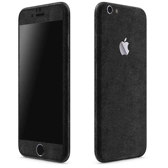 【iPhone6ケース】レザー調 プレミアムスキンシール ブラックレザー iPhone 6 スキンシール_0