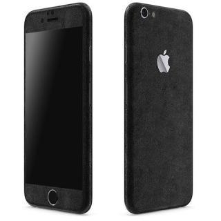 レザー調 プレミアムスキンシール ブラックレザー iPhone 6 スキンシール