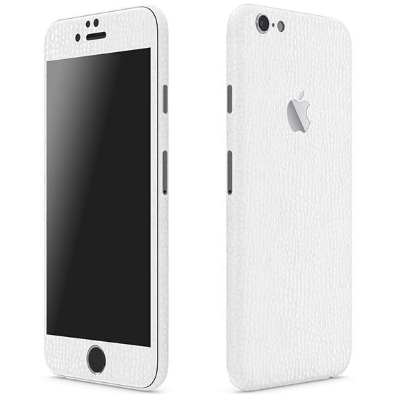 【iPhone6ケース】レザー調 プレミアムスキンシール アリゲーターホワイト iPhone 6 スキンシール_0