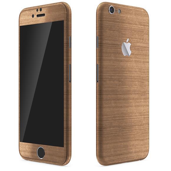 メタル調 プレミアムスキンシール ブラッシュドコッパー iPhone 6 スキンシール