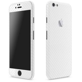 カーボン調 プレミアムスキンシール ホワイト iPhone 6 Plusスキンシール