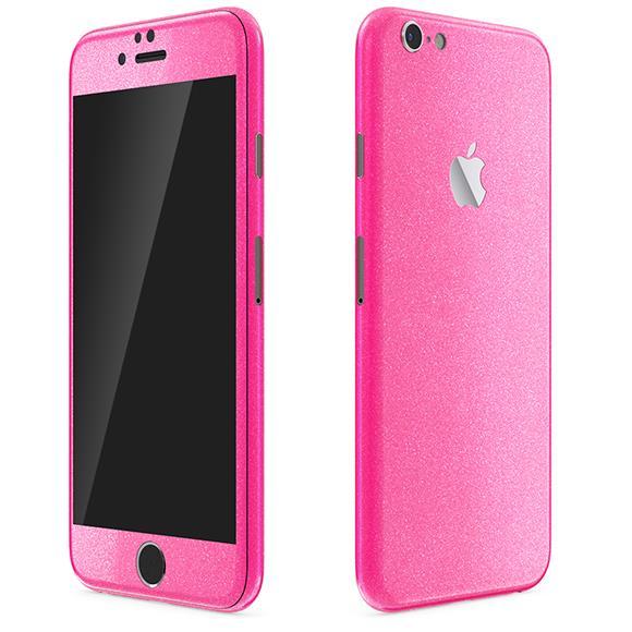 iPhone6 ケース ラメ入り プレミアムスキンシール グリッターピンク iPhone 6 スキンシール_0