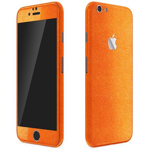 【iPhone6ケース】ラメ入り プレミアムスキンシール グリッターオレンジ iPhone 6 スキンシール_0