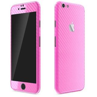 カーボン調 プレミアムスキンシール ピンク iPhone 6 Plusスキンシール
