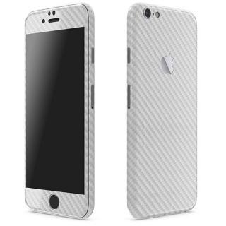 カーボン調 プレミアムスキンシール シルバー iPhone 6 Plusスキンシール