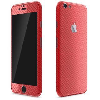 カーボン調 プレミアムスキンシール レッド iPhone 6 Plusスキンシール