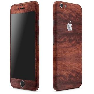 ウッド調 プレミアムスキンシール マホガニー iPhone 6 Plusスキンシール