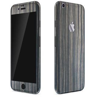 ウッド調 プレミアムスキンシール ダークエボニー iPhone 6 Plusスキンシール