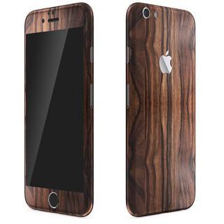 ウッド調 プレミアムスキンシール エボニー iPhone 6 Plusスキンシール
