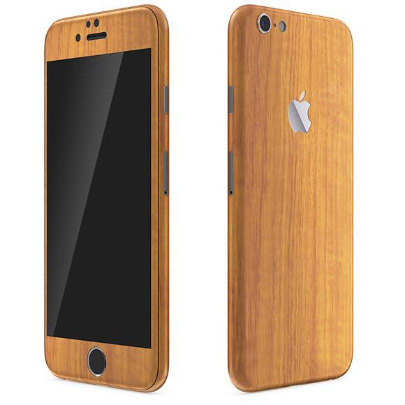 【iPhone6 Plusケース】ウッド調 プレミアムスキンシール チーク iPhone 6 Plusスキンシール_0