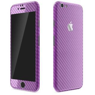 カーボン調 プレミアムスキンシール パープル iPhone 6 Plusスキンシール