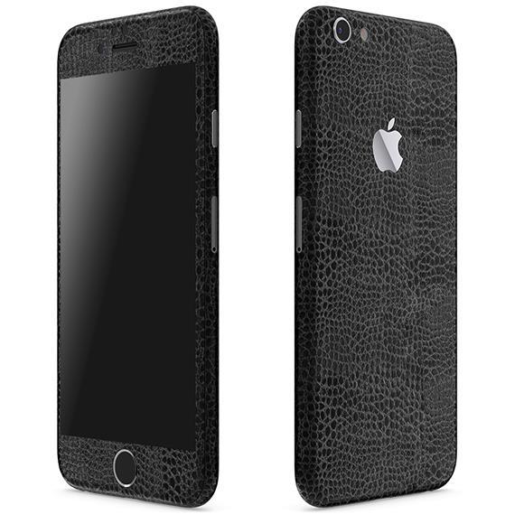 レザー調 プレミアムスキンシール アリゲーターブラック iPhone 6 Plusスキンシール