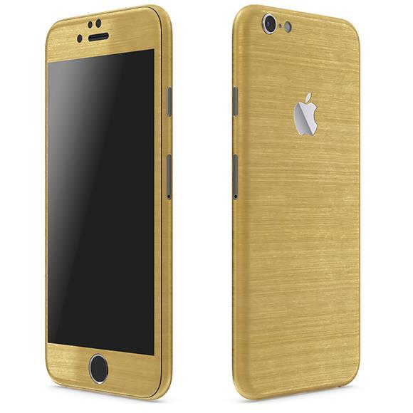 メタル調 プレミアムスキンシール ブラッシュドゴールド iPhone 6 Plusスキンシール