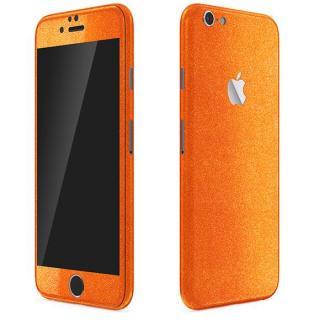 ラメ入り プレミアムスキンシール グリッターオレンジ iPhone 6 Plusスキンシール