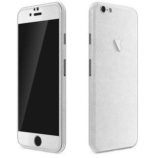 ラメ入り プレミアムスキンシール グリッターホワイト iPhone 6 Plusスキンシール
