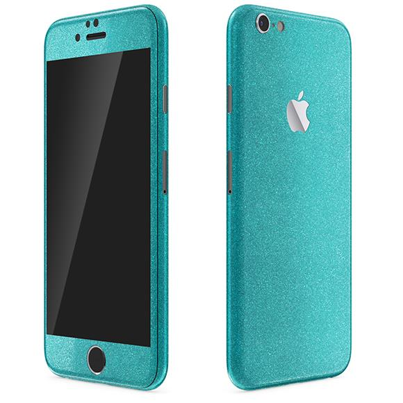 【iPhone6 Plusケース】ラメ入り プレミアムスキンシール グリッターブルー iPhone 6 Plusスキンシール_0