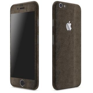 レザー調 プレミアムスキンシール ブラウンレザー iPhone 6 Plusスキンシール