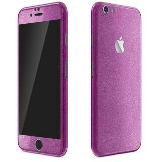 iPhone6 Plus ケース ラメ入り プレミアムスキンシール グリッターパープル iPhone 6 Plusスキンシール