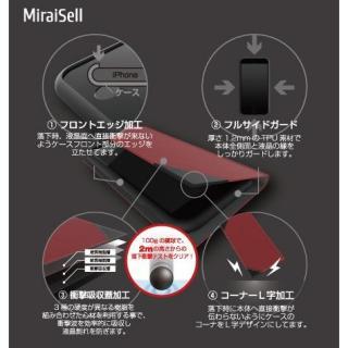 【iPhone7ケース】液晶割れ防止 ハードレザーケース 縦開きタイプ ミライセル レッド iPhone 7_4