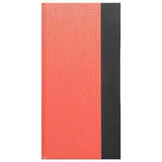 液晶割れ防止 強化ナイロンハイブリット手帳型ケース 左開きタイプ ミライセル オレンジ iPhone 7