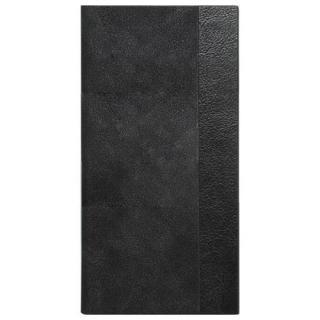 液晶割れ防止 スエードハイブリット手帳型ケース 左開きタイプ ミライセル ブラック iPhone 7