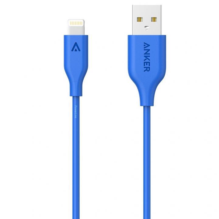 [90cm]Anker PowerLine Lightningケーブル ブルー