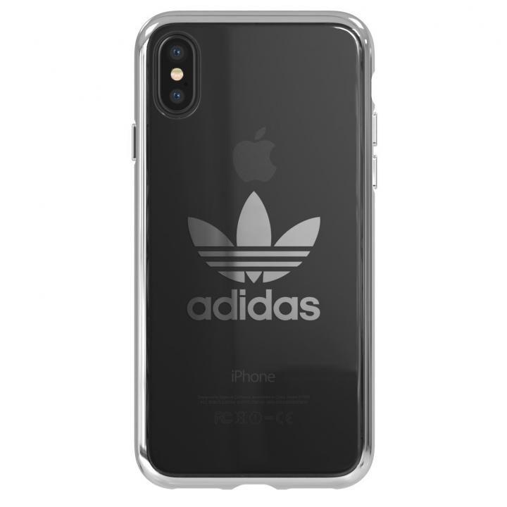 iPhone XS/X ケース adidas Originals クリアケース シルバー ロゴ iPhone XS/X_0