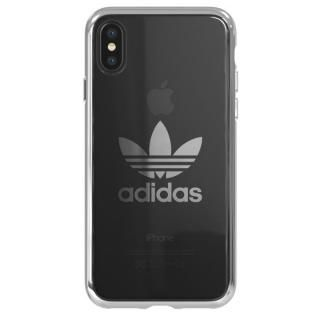 adidas Originals クリアケース シルバー ロゴ iPhone X