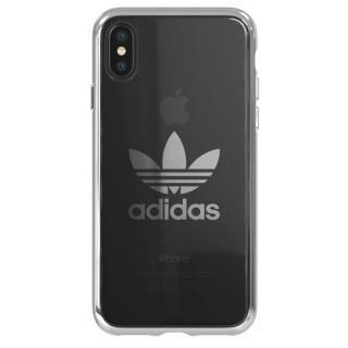 adidas Originals クリアケース シルバー ロゴ iPhone XS/X