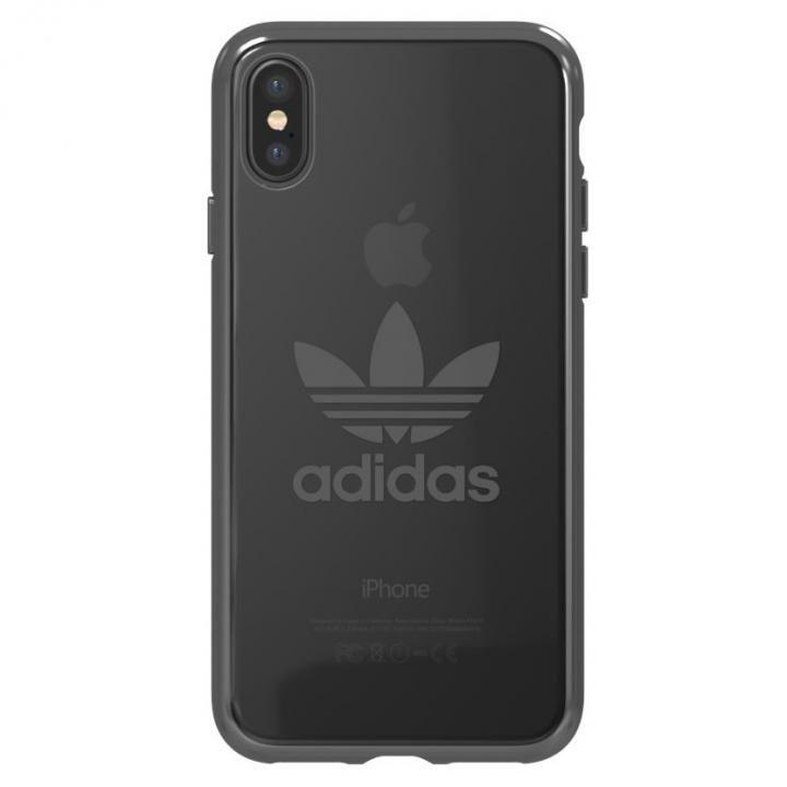 【iPhone XS/Xケース】adidas Originals クリアケース ガンメタル ロゴ iPhone XS/X_0