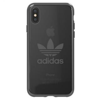 adidas Originals クリアケース ガンメタル ロゴ iPhone X