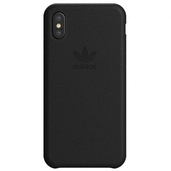 【iPhone XS/Xケース】adidas Originals レザースリムケース ブラック iPhone XS/X_0