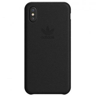 iPhone XS/X ケース adidas Originals レザースリムケース ブラック iPhone XS/X