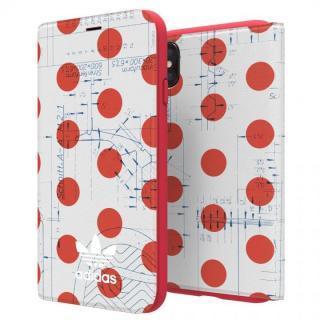 iPhone XS/X ケース adidas Originals 70'S 手帳型ケース レッド/ホワイト iPhone XS/X