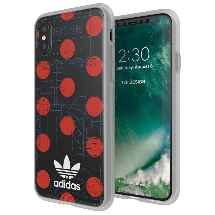 iPhone XS/X ケース adidas Originals 70'S クリアケース レッド/ホワイト iPhone XS/X_0