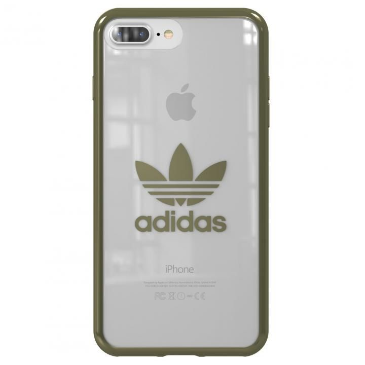 adidas Originals クリアケース Military Green logo iPhone 8 Plus/7 Plus