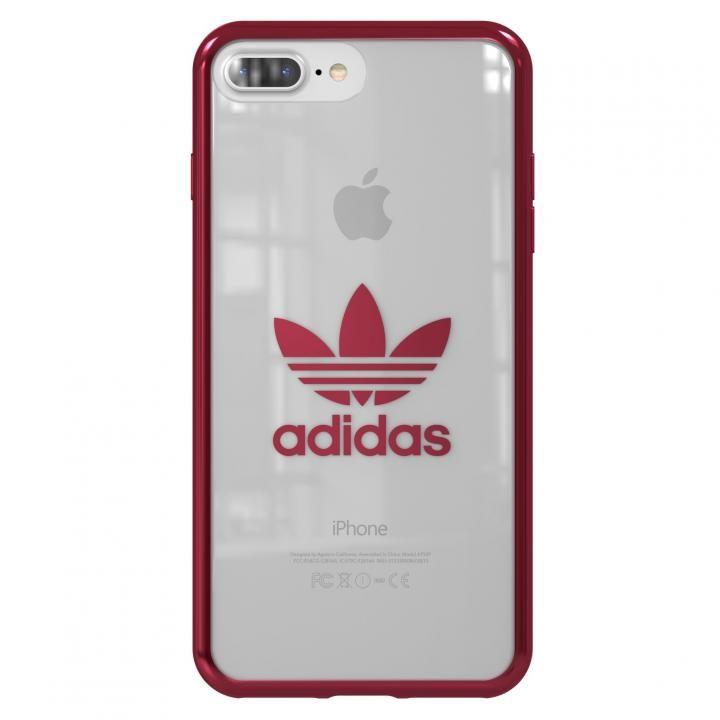 【iPhone8 Plus/7 Plusケース】adidas Originals クリアケース Burgundy logo iPhone 8 Plus/7 Plus_0