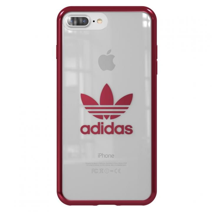 iPhone8 Plus/7 Plus ケース adidas Originals クリアケース Burgundy logo iPhone 8 Plus/7 Plus_0