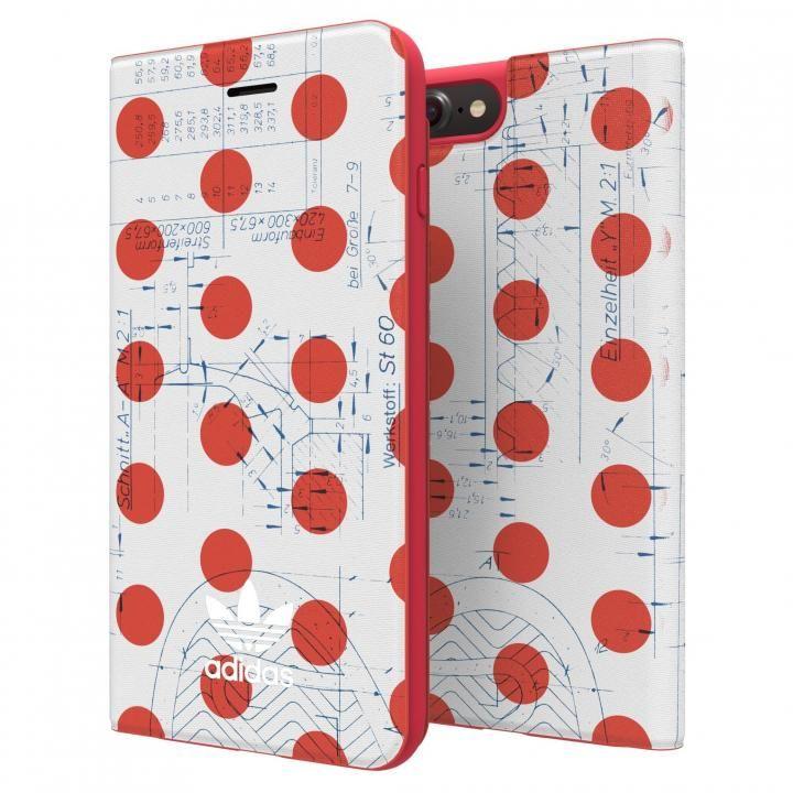 adidas Originals 70'S 手帳型ケース レッド/ホワイト iPhone 8 Plus/7 Plus/6s Plus/6 Plus