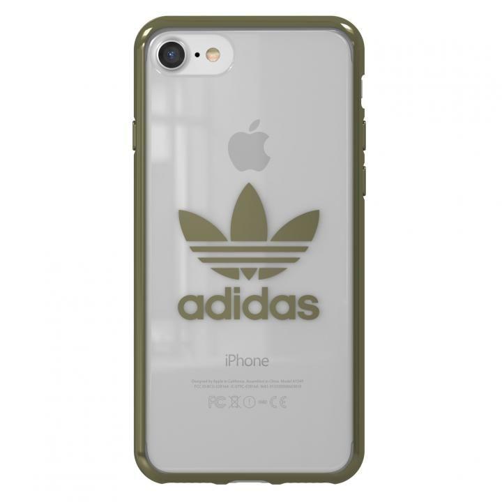 adidas Originals クリアケース ミリタリー グリーン ロゴ iPhone 8/7