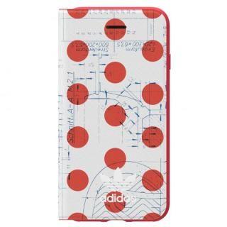 【iPhone6 ケース】adidas Originals 70'S 手帳型ケース レッド/ホワイト iPhone 8/7/6s/6
