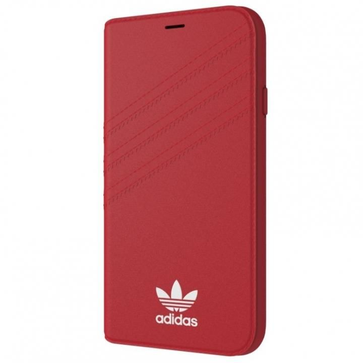 iPhone XS/X ケース adidas Originals 手帳型ケース ロイヤルレッド/ホワイト iPhone XS/X_0