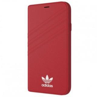 adidas Originals 手帳型ケース ロイヤルレッド/ホワイト iPhone XS/X