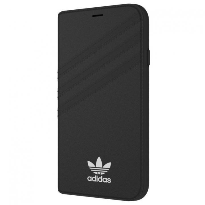 adidas Originals 手帳型ケース ブラック/ホワイト iPhone X【11月中旬】