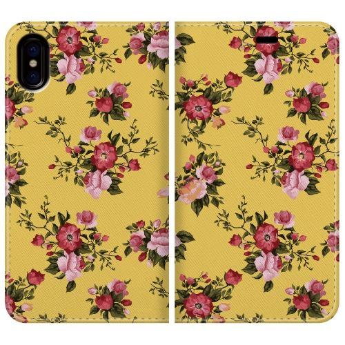 iPhone X ケース 手帳型ケース Flower garden basic iPhone X_0