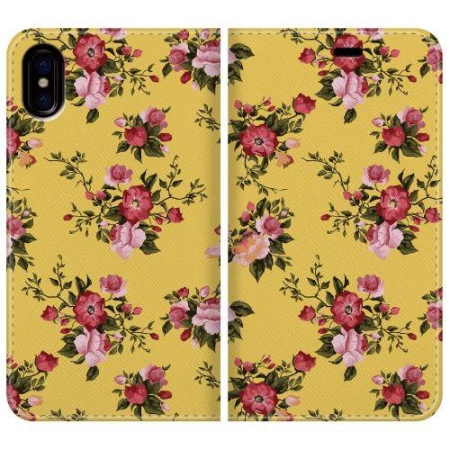 手帳型ケース Flower garden basic iPhone X