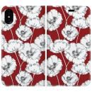 手帳型ケース Retro poppy iPhone X