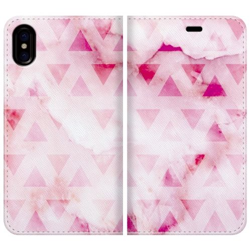 iPhone X ケース 手帳型ケース marble triangle iPhone X_0