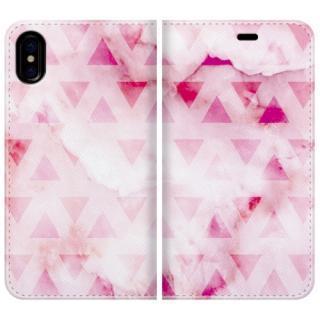 手帳型ケース marble triangle iPhone X