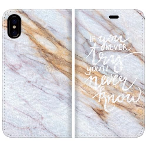 iPhone X ケース 手帳型ケース IF you never try iPhone X_0